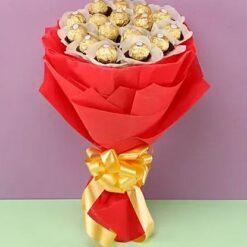 Red Ferrero Bouquet