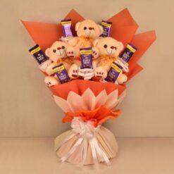 chocolate teddy bouquet